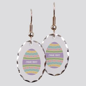 Your Text Easter Egg Earring Oval Charm
