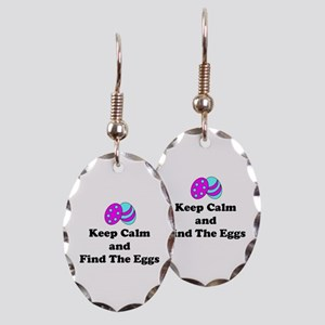 Easter Keep Calm And Find The Earring Oval Charm