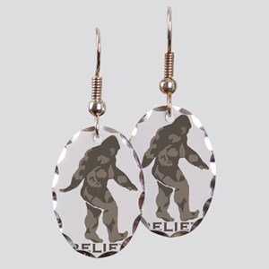 Believe in the Bigfoot Earring Oval Charm