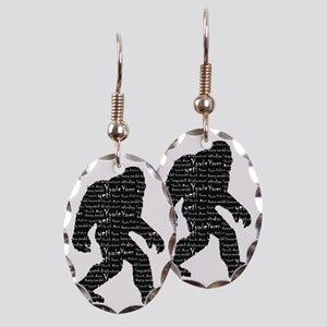 Bigfoot Sasquatch Yowie Yeti Ya Earring Oval Charm
