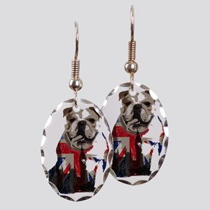 best of british Earring Oval Charm