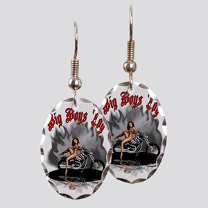 Big Boys Toy Earring Oval Charm