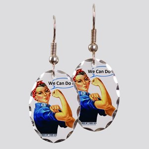 We Can Do It! Earring Oval Charm