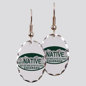 Not a Native Colo License Plate Earring Oval Charm