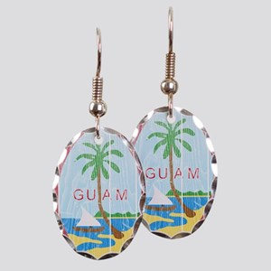 Guam Coat Of Arms Earring Oval Charm
