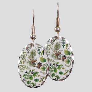 Botanical Illustrations - Larou Earring Oval Charm