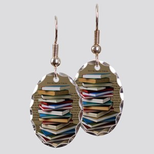 Book Lovers Blanket 2 Earring Oval Charm