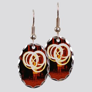 Tehani Fire Poi, Photo One Earring Oval Charm