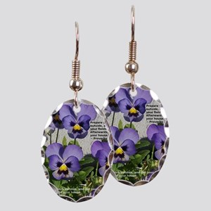 PAnsies with Proverb Earring Oval Charm
