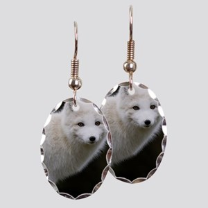 Artic Fox Earring Oval Charm