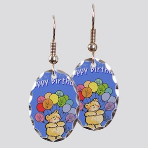 Happy Birthday Card Earring Oval Charm