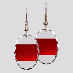 City Redscape Earring Oval Charm