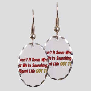 Intelligent Life Earring Oval Charm