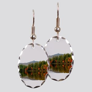 Fall In Love With Autumn In New Earring Oval Charm