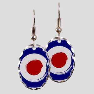 Vintage Mod Target Earrings - CafePress