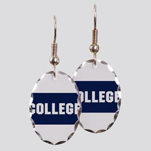 Animal House College Fraternity Frat Earring Oval