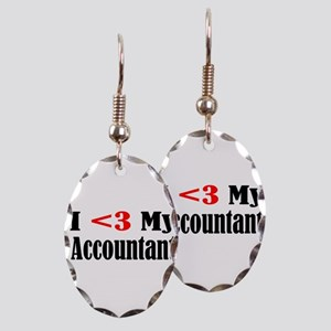 accountant3 Earring Oval Charm