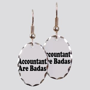 accountant6 Earring Oval Charm