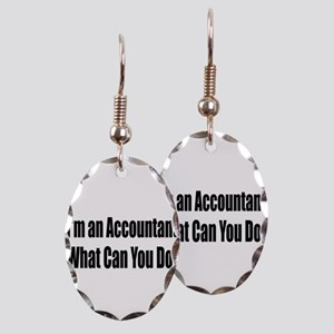 accountant14 Earring Oval Charm