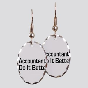 accountant32 Earring Oval Charm