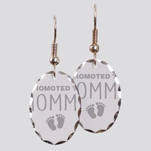 Promoted To Mommy Earring Oval Charm