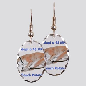 45 MPH Couch Potato Earring Oval Charm