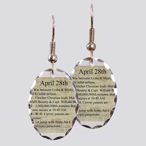 April 28th Earring Oval Charm