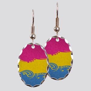Pansexual Ornamental Flag Earring Oval Charm
