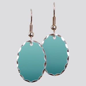 watercolor teal ombre Earring Oval Charm