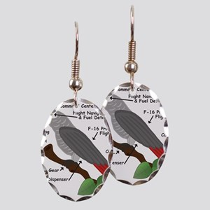 Anatomy of an African Grey Parr Earring Oval Charm