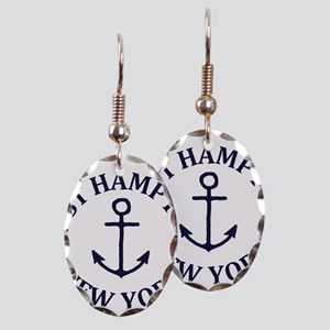 Summer East Hampton- New York Earring Oval Charm