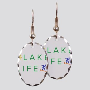 Inspiration quote - lake life Earring Oval Charm