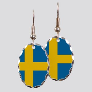 Flag: Sweden Earring Oval Charm