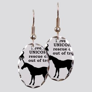 UNICORN Earring Oval Charm