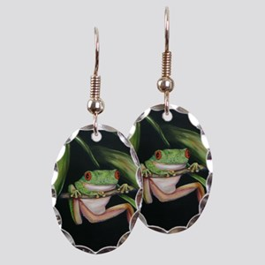 Fun Frog #3 Earring Oval Charm