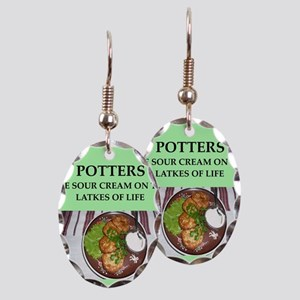 pottery Earring Oval Charm