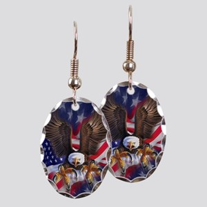 Patriotic Eagle Earring