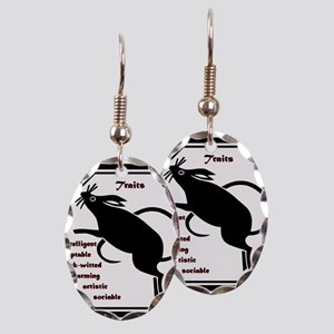 Year of the Rat - Traits Earring Oval Charm