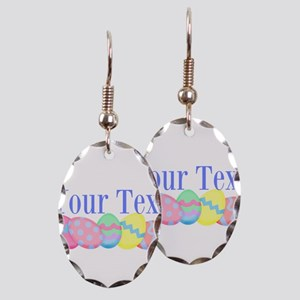 Personalizable Easter Eggs Blue Earring