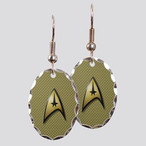 Star Trek: TOS Command Earring Oval Charm