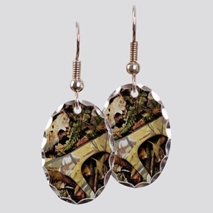 outdoors antler Hunter camoufla Earring Oval Charm