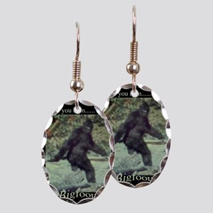 Have You Seen BIGFOOT? Earring Oval Charm