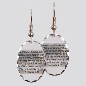 Hebrews 4:12 Earring Oval Charm