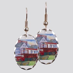 Gilleys Diner Portsmouth NH Earring Oval Charm