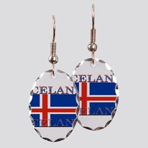 Iceland Earring Oval Charm