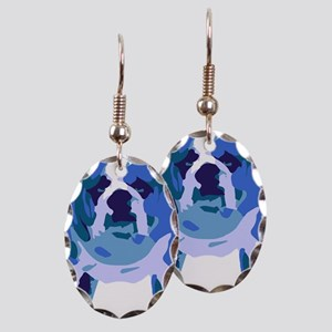 English Bulldog Pop Art Earring Oval Charm