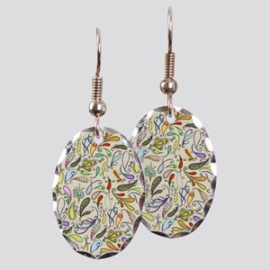 Crazy For Paisley Earring Oval Charm