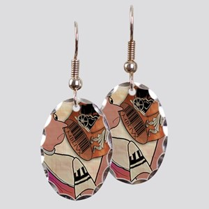 8344_roman_cartoon Earring Oval Charm