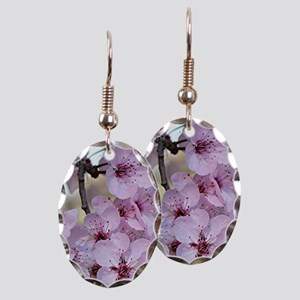 Cherry blossoms in spring time Earring Oval Charm