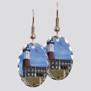 Montauk Lighthouse Earring Oval Charm